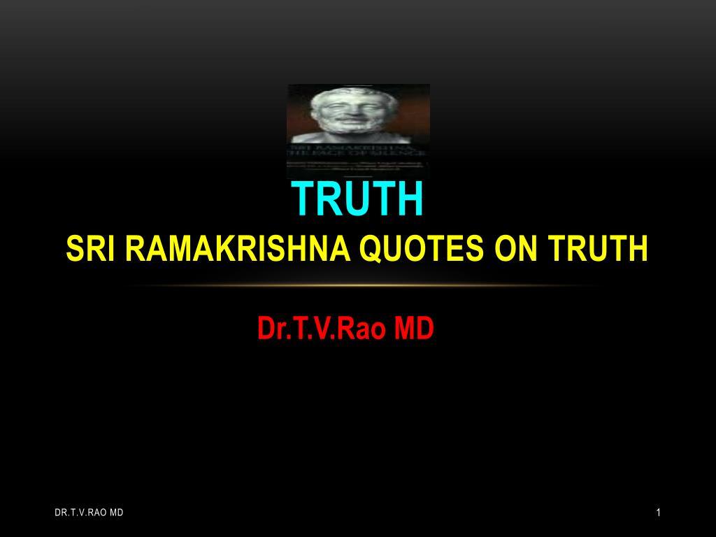 truth sri ramakrishna quotes on truth l.