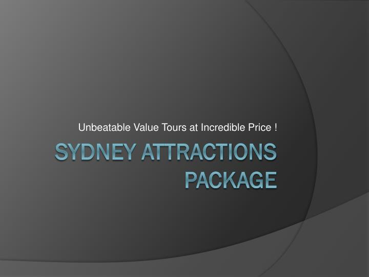 unbeatable value tours at incredible price n.