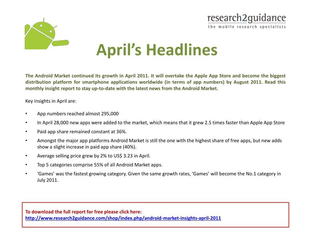 April's Headlines