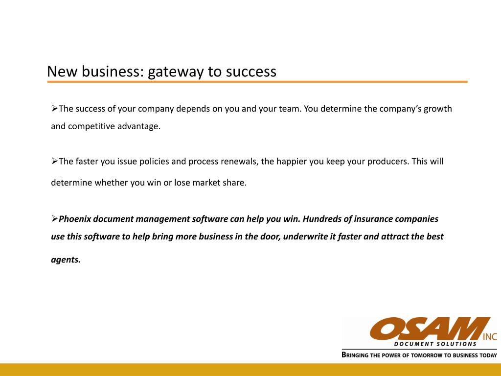 New business: gateway to success