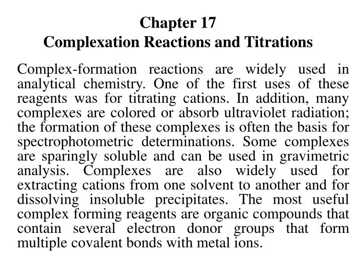 chapter 17 complexation reactions and titrations n.