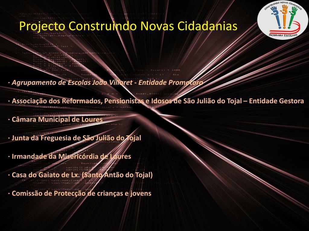 Projecto Construindo Novas Cidadanias