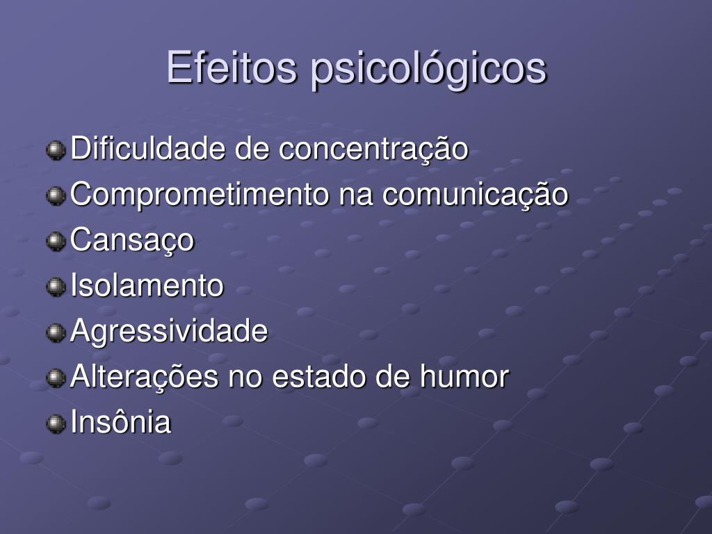 Efeitos psicológicos