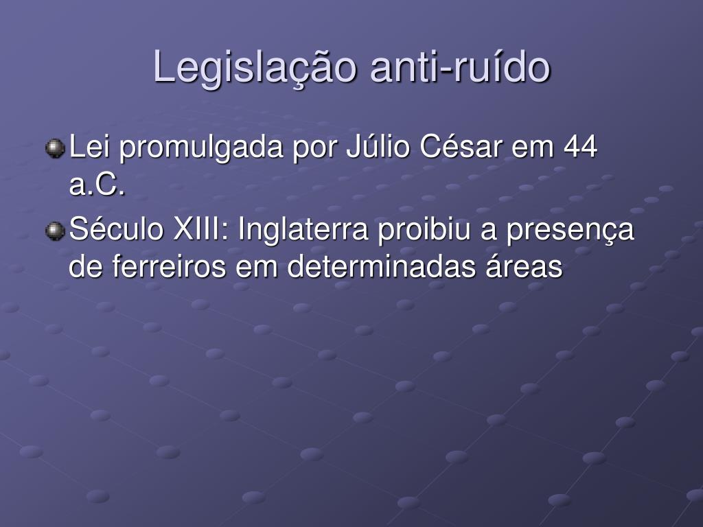 Legislação anti-ruído