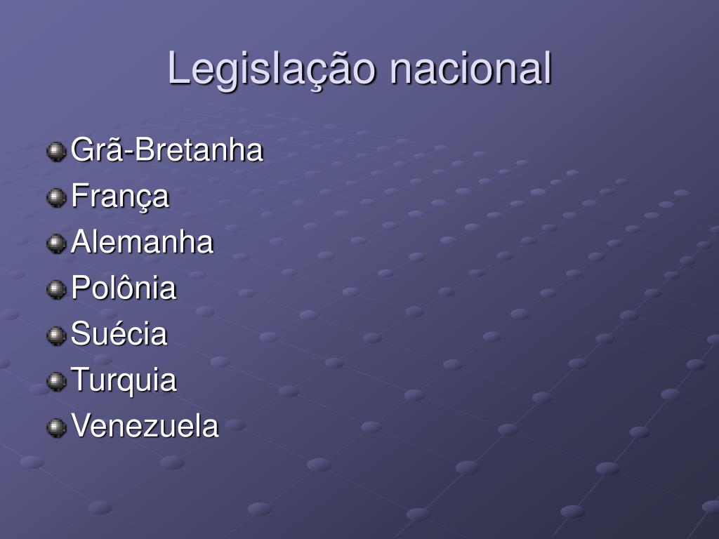 Legislação nacional