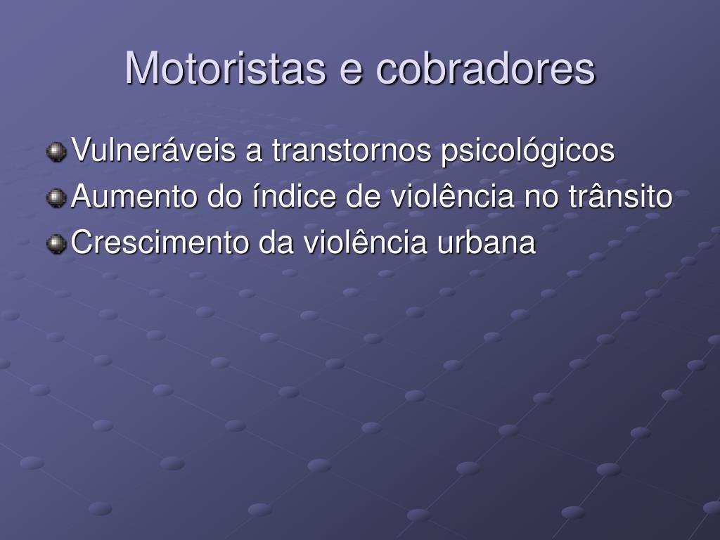 Motoristas e cobradores