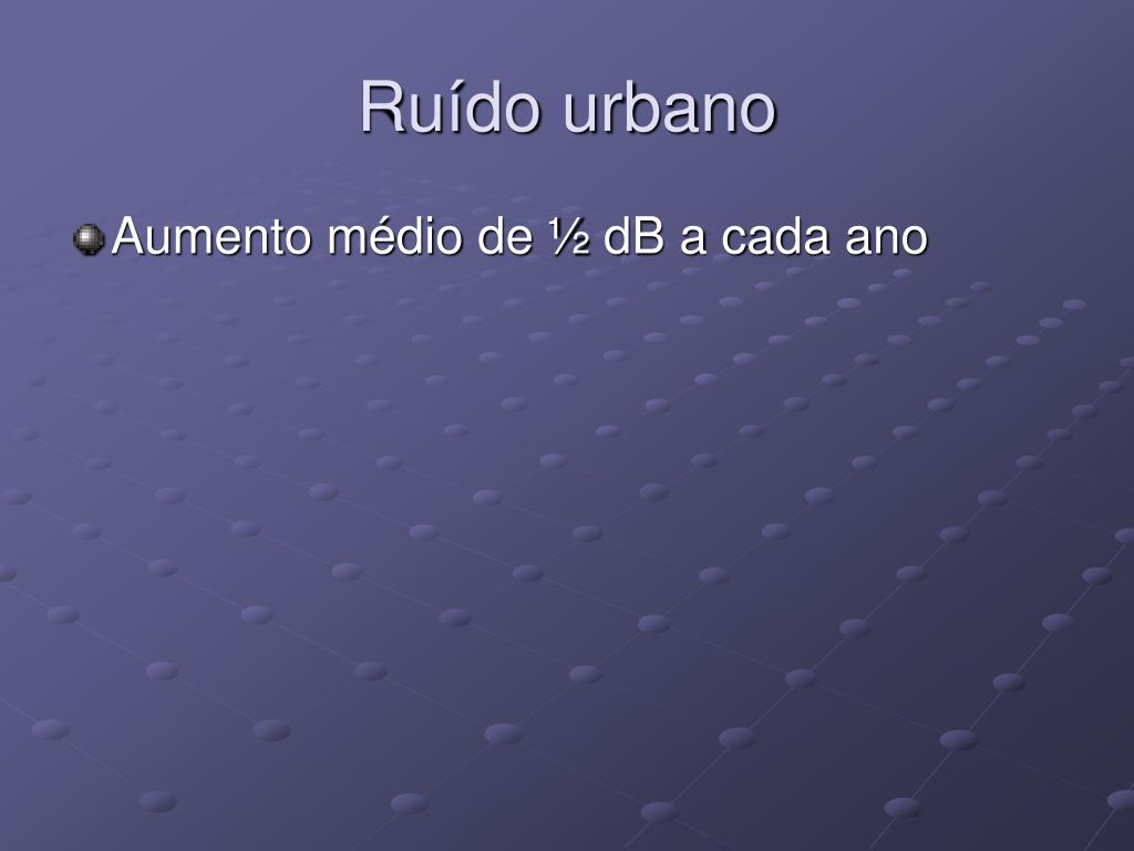 Ruído urbano