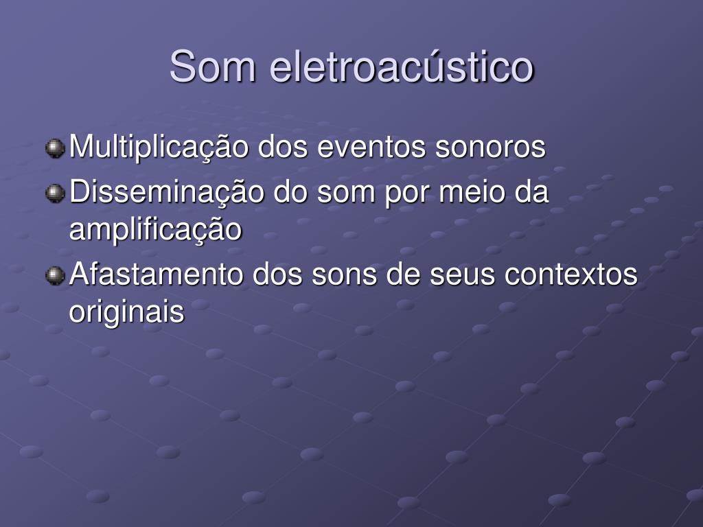Som eletroacústico