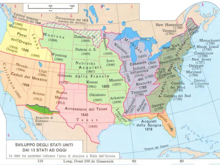 La rivoluzione americana e la nascita degli stati uniti