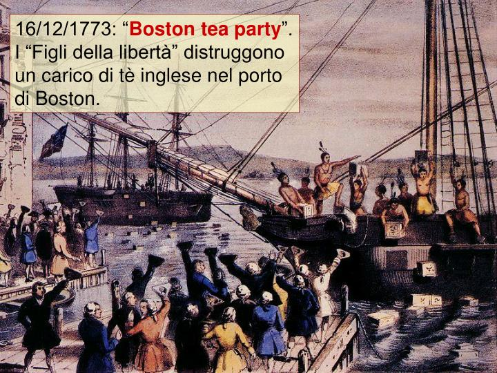 "16/12/1773: """