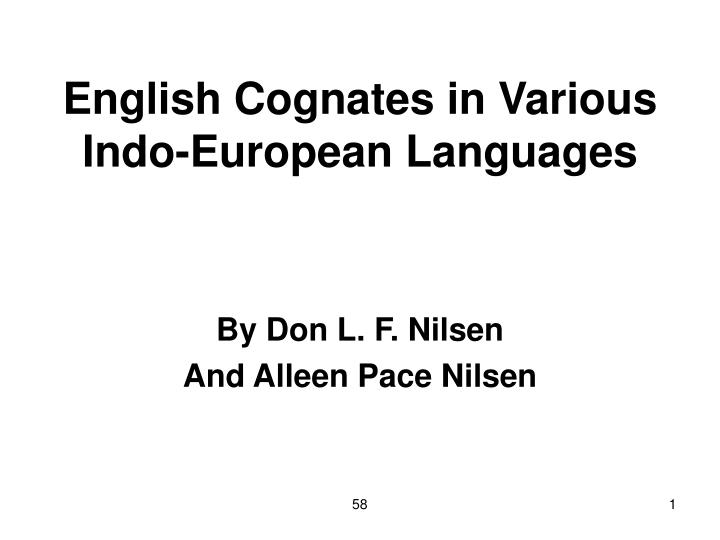english cognates in various indo european languages n.