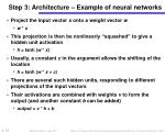 step 3 architecture example of neural networks