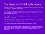 diambars official statements