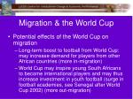 migration the world cup