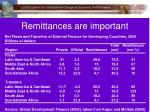 remittances are important