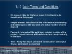 1 10 loan terms and conditions