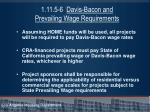 1 11 5 6 davis bacon and prevailing wage requirements