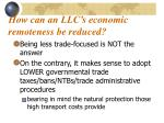 how can an llc s economic remoteness be reduced
