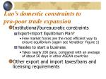 lao s domestic constraints to pro poor trade expansion