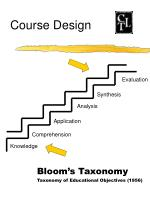 bloom s taxonomy taxonomy of educational objectives 1956