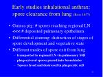 early studies inhalational anthrax spore clearance from lung ross 1957