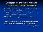 collapse of the colonial era growth of christianity in africa1