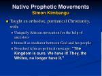 native prophetic movements simon kimbangu1
