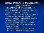 native prophetic movements taiping movement