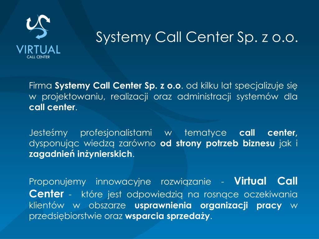 Systemy Call Center Sp. z o.o.