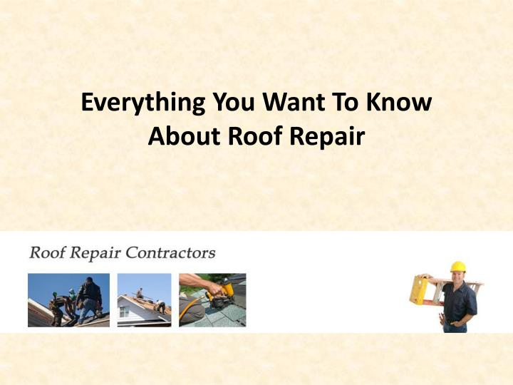 everything you want to know about roof repair n.