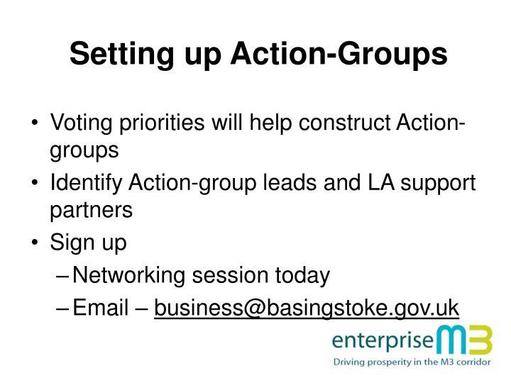 Setting up Action-Groups