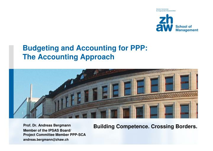 budgeting and accounting for ppp the accounting approach n.