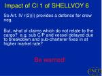 impact of cl 1 of shellvoy 62
