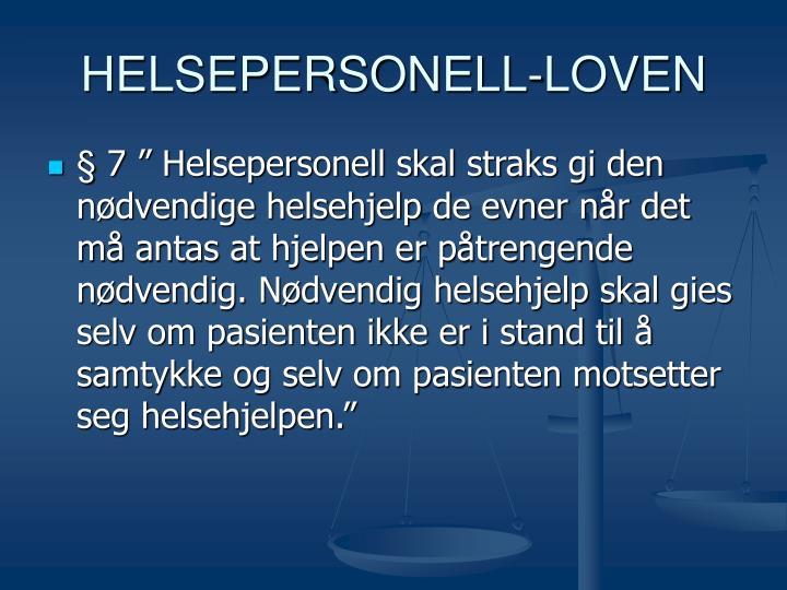 HELSEPERSONELL-LOVEN