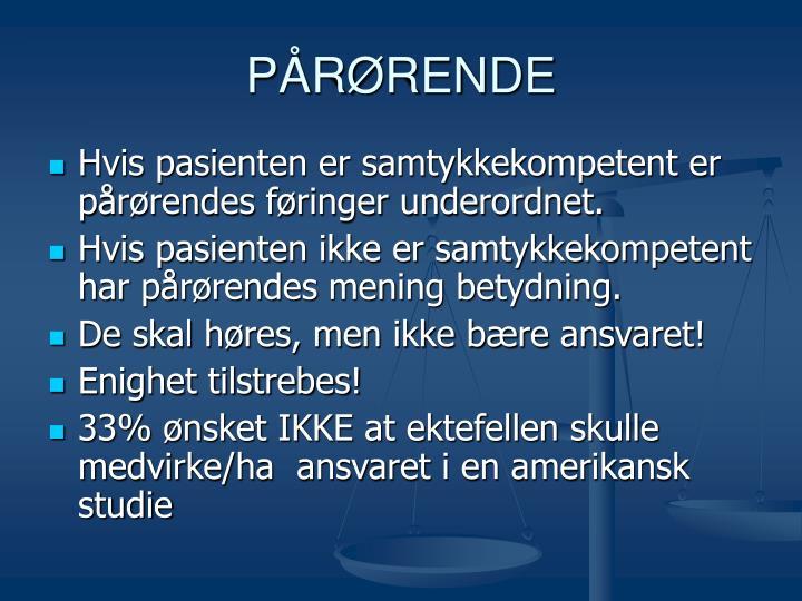 PÅRØRENDE