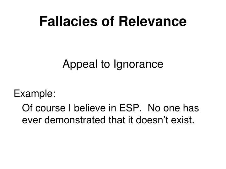 Ppt Fallacies Powerpoint Presentation Id1240877