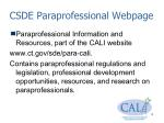 csde paraprofessional webpage