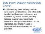 data driven decision making data teams