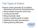 two types of victims
