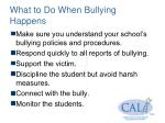 what to do when bullying happens