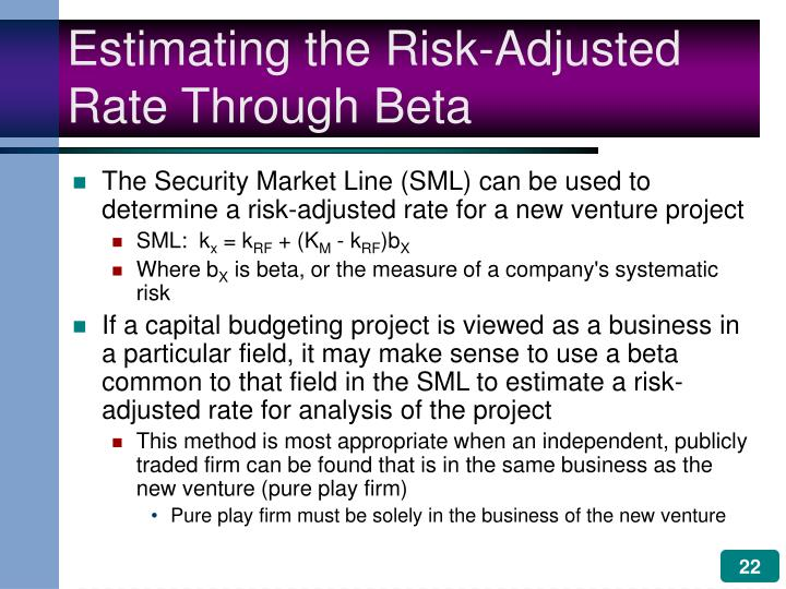Estimating the Risk-Adjusted Rate Through Beta