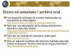 textos en asturiano archivo oral