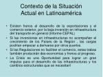 contexto de la situaci n actual en latinoam rica