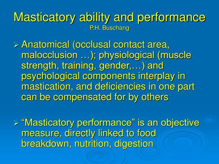 Masticatory ability and performance