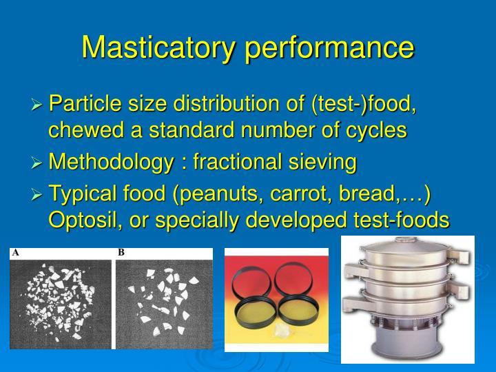 Masticatory performance