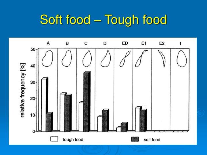 Soft food – Tough food