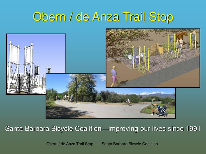 Obern / de Anza Trail Stop