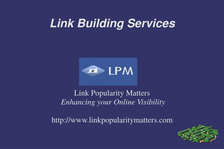 Link popularity matters enhancing your online visibility http www linkpopularitymatters com