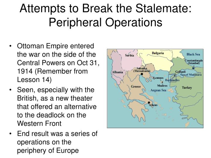 Attempts to Break the Stalemate: Peripheral Operations