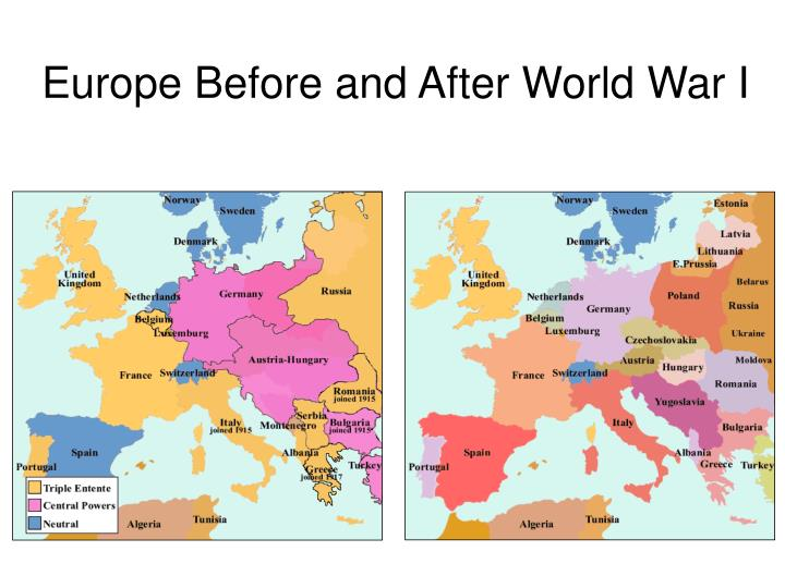 Europe Before and After World War I